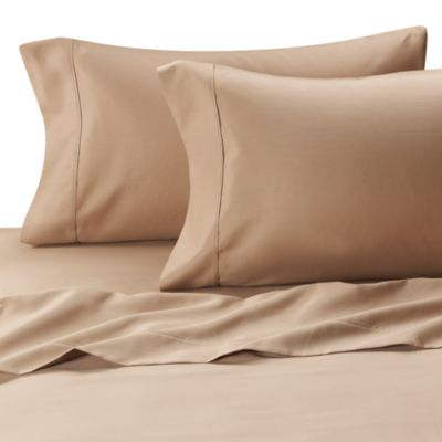 MicroTouch Queen Sateen Sheet Set in Taupe