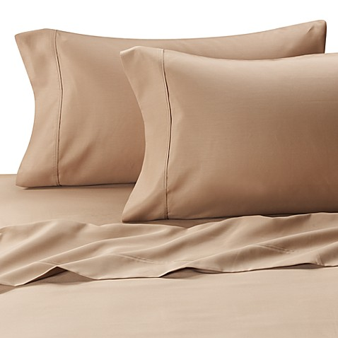 MicroTouch California King Sateen Sheet Set in Taupe