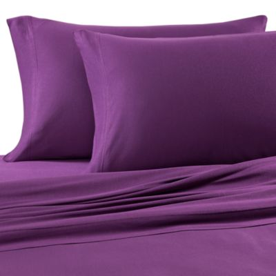 Pure Beech® Jersey Knit Twin Sheet Set in Purple