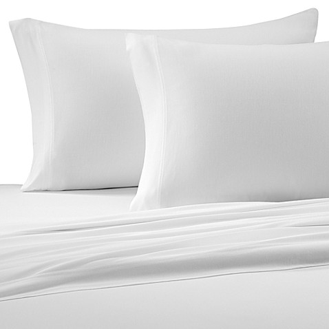 Pure Beech® Jersey Knit Twin Sheet Set in White