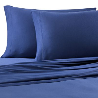 Pure Beech® Jersey Knit Standard Pillowcase in Navy (Set of 2)
