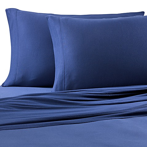 Pure Beech® Jersey Knit Twin Sheet Set in Navy