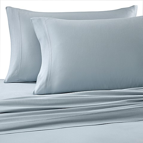 Pure Beech® Jersey Knit Twin Sheet Set in Light Blue