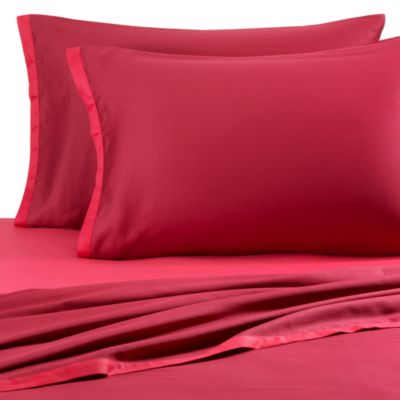 KAS® Two Tone Sheet Set in Burgundy/Hot Pink