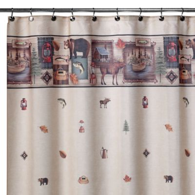 Camping Trip 70-Inch W x 72-Inch L Shower Curtain