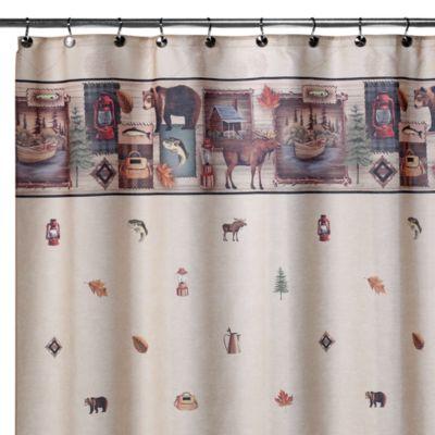 Camping Trip 70-Inch W x 72-Inch L Shower Curtain