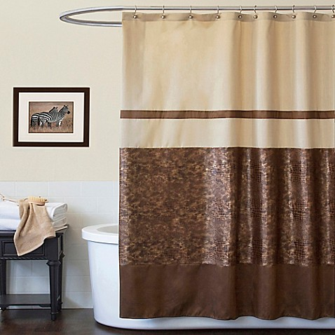 How To Hang Curtains From Ceiling Turquoise and Tan Shower C