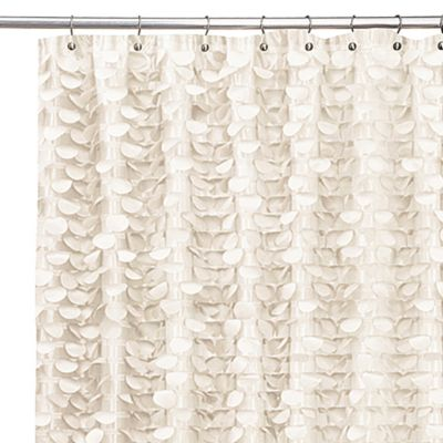 Gigi Ivory 54-Inch x 78-Inch Shower Curtain