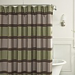 Jardin Stripe 72-Inch x 72-Inch Fabric Shower Curtain in Green