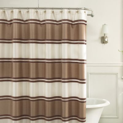 "72"" Taupe Fabric Shower Curtain"