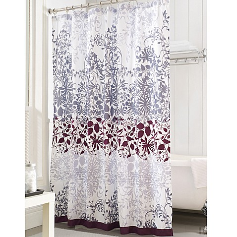 White Decorative Curtain Rods Grey Flower Shower Curtain