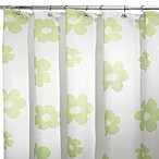 Green Poppy 108-Inch W x 72-Inch L Fabric Shower Curtain