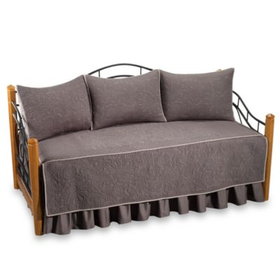 Vallejo 100% Cotton Quilted Daybed Set in Grey