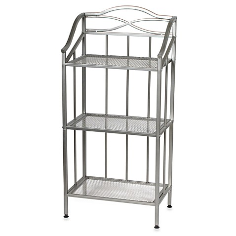 Buy 2 Tier Satin Nickel Shelf With Towel Bars From Bed