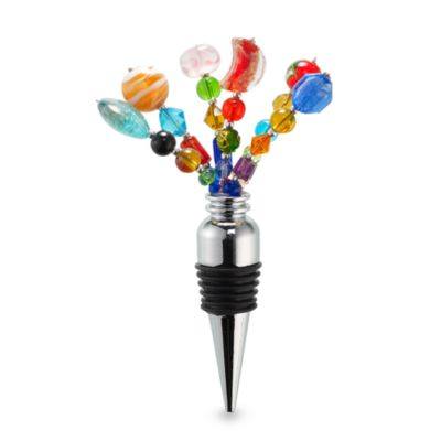 Beads Glass Wine Bottle Stopper