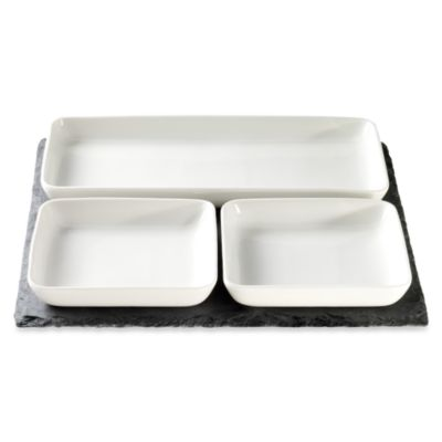 Luigi Bormioli Slate 4-Piece Serving Set