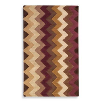 Surya B. Smith Mosaic Chocolate/Plum Wool Rectangle Rugs