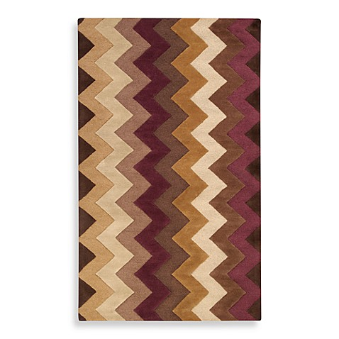 Surya B. Smith Mosaic 5-Foot x 8-Foot Wool Rug in Chocolate/Plum