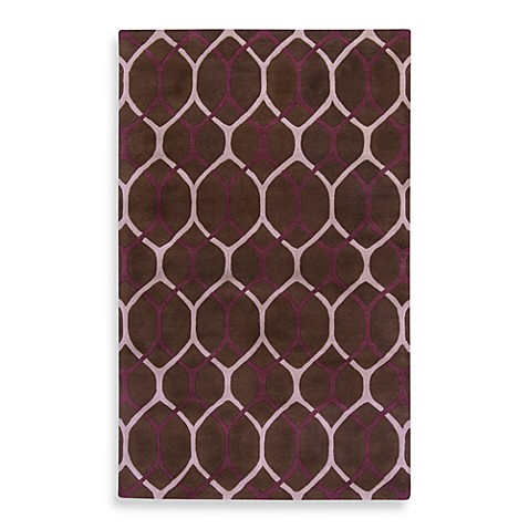 Surya B Smith Mosaic Chocolate Tan Plum Wool Rectangle Rugs