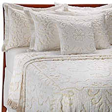 Lamont Home Jessica Chenille Bedspread in White/ Natural