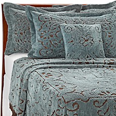 Lamont Home Jessica Chenille Bedspread in Slate/Chocolate
