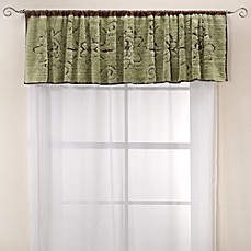 Lamont Home Jessica Chenille Window Valance - Mint/Chocolate