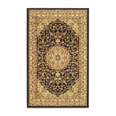 Safavieh Lyndhurst 5-Foot 3-Inch x 7-Foot 6-Inch Rug in Black and Ivory