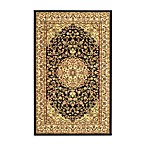 Safavieh Lyndhurst Black and Ivory Rugs