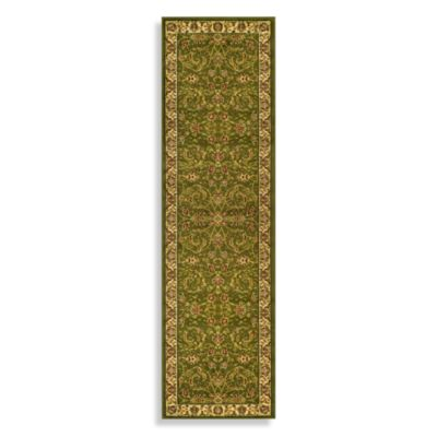 Safavieh Sage and Ivory Floral 2-Foot 3-Inch x 12-Foot Runner