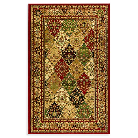 "Safavieh Lyndhurst Diamond Patchwork Red 5' 3"" Round Rug"