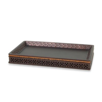 Anaka Guest Towel Tray in Bronze