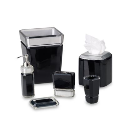 Croscill Barron Black Toothbrush Holder
