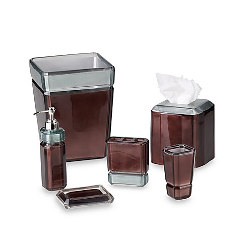Croscill® Barron Boutique Tissue Holder in Chocolate
