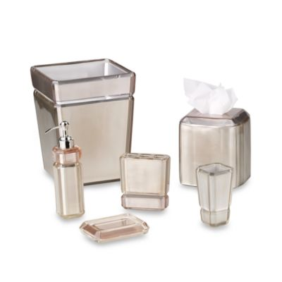 Croscill Barron Champagne Waste Basket
