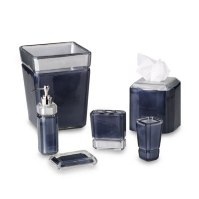 Croscill Barron Navy Waste Basket