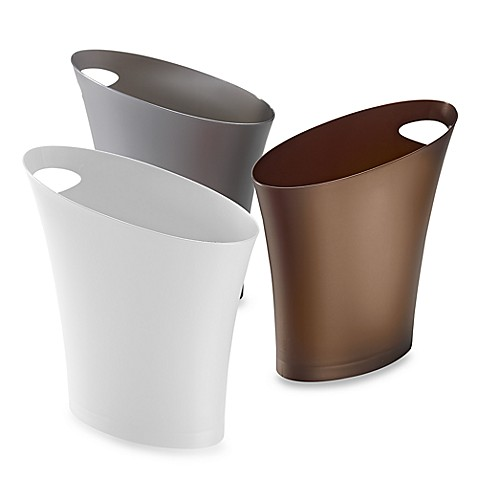 Umbra skinny 7 3 4 qt wastebasket bed bath beyond for Waste baskets for bathroom