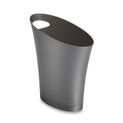 Umbra® Skinny Can Waste Basket in Silver