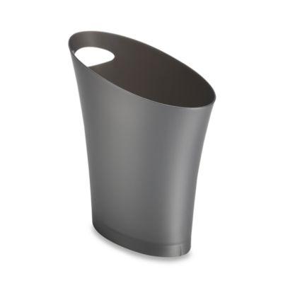 Umbra® Skinny Can Wastebasket in Silver