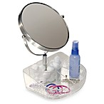 InterDesign® Rain Clear Cosmetic Tray with Mirror