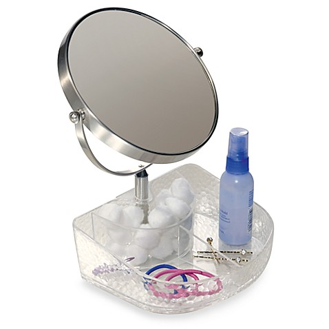 InterDesign® Vanity Organizer!™ Rain Clear Cosmetic Tray with Mirror