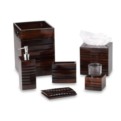 Croscill® Sun Valley Wood Toothbrush Holder