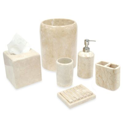 Spa Stone Champagne Marble Toothbrush Holder