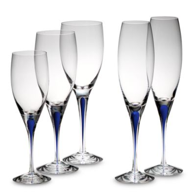 Orrefors Intermezzo Blue 5 3/4-Ounce White Wine Glass