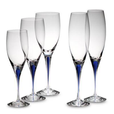 Orrefors Intermezzo Blue 10 3/4 oz. Goblet