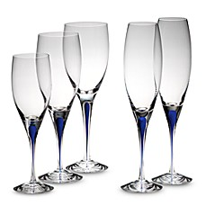 Orrefors Intermezzo Blue Stemware Collection