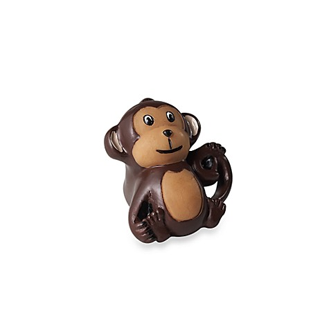 Kidz Decorative Door Knob with Ribbon in Monkey (Set of 4)