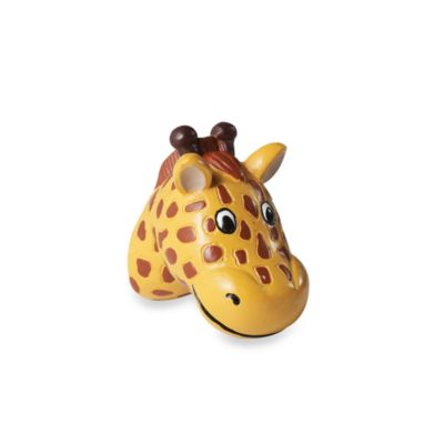 Kidz Decorative Door Knob with Ribbon in Giraffe (Set of 4)
