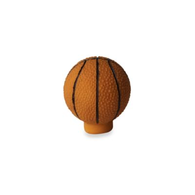 Kidz Decorative Door Knob with Ribbon in Basketball (Set of 4)