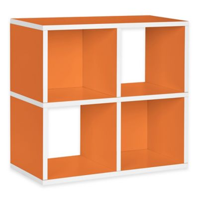 Way Basics Quad Cube and Bookcase in Orange