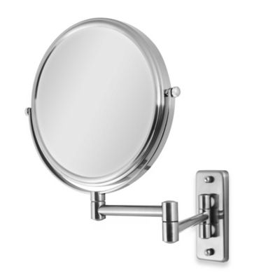 Zadro™ Swivel Wall Mount 5X/1X Magnification Mirror in Satin Nickel